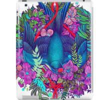 Bird and blossoms color iPad Case/Skin