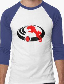Red Tribal Panther Men's Baseball ¾ T-Shirt