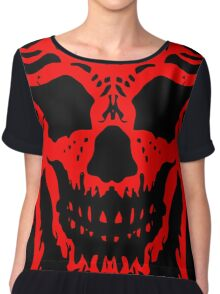 Red and Black Skull V2 Chiffon Top