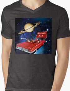 Wrong Way Mens V-Neck T-Shirt