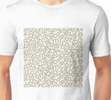 Alphabetic background Unisex T-Shirt