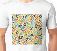 Alphabetic background2 Unisex T-Shirt