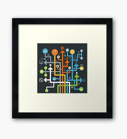 Arrow office Framed Print
