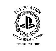 Playstation Battle Royale School (Black) Photographic Print