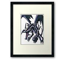 red eyes black dragon yugioh Framed Print