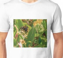 Yet Another Bumble Bee on the Honeysuckle Unisex T-Shirt
