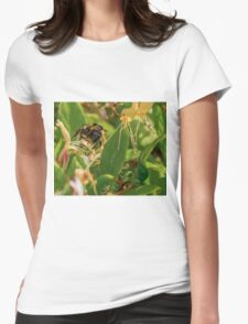 Yet Another Bumble Bee on the Honeysuckle Womens Fitted T-Shirt