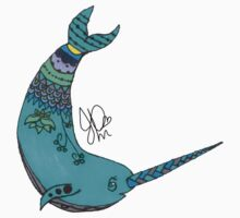 Narwhal in Sharpie  Kids Clothes