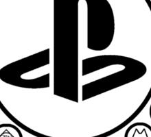 Playstation Battle Royale School (Black) Sticker