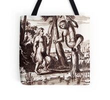 Adam and Eva vintage engraving Tote Bag
