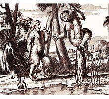 Adam and Eva vintage engraving Photographic Print