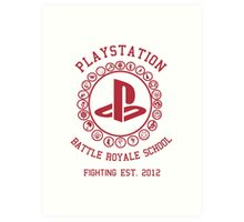 Playstation Battle Royale School (Red) Art Print