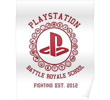 Playstation Battle Royale School (Red) Poster