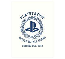 Playstation Battle Royale School (Blue) Art Print