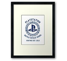 Playstation Battle Royale School (Blue) Framed Print