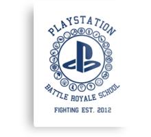 Playstation Battle Royale School (Blue) Metal Print