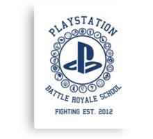 Playstation Battle Royale School (Blue) Canvas Print
