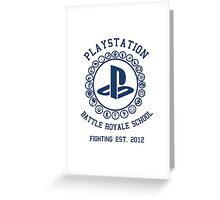 Playstation Battle Royale School (Blue) Greeting Card