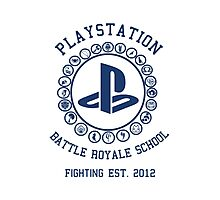 Playstation Battle Royale School (Blue) Photographic Print
