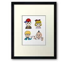 Earthbound's 4 Heroes Framed Print
