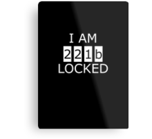 I am 221b locked Metal Print