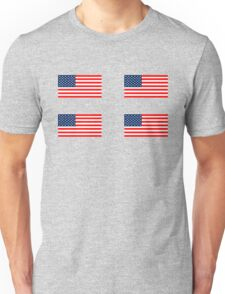 Flag of the United States of America 4 pack Unisex T-Shirt