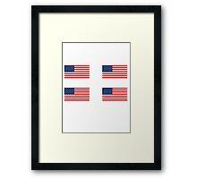 Flag of the United States of America 4 pack Framed Print