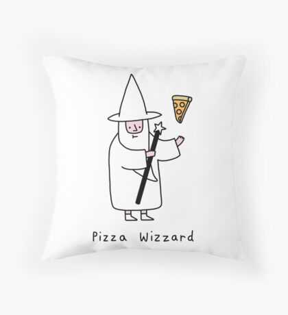 The Wizzard of Pizza Throw Pillow