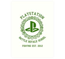 Playstation Battle Royale School (Green) Art Print