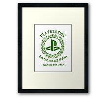 Playstation Battle Royale School (Green) Framed Print