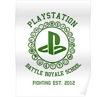 Playstation Battle Royale School (Green) Poster