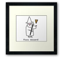 The Wizzard of Pizza Framed Print