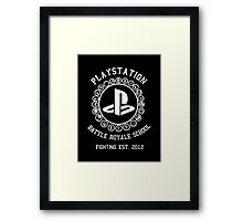 Playstation Battle Royale School (White) Framed Print