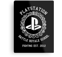 Playstation Battle Royale School (White) Metal Print