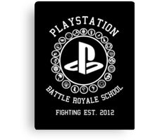 Playstation Battle Royale School (White) Canvas Print