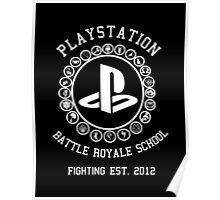 Playstation Battle Royale School (White) Poster