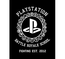 Playstation Battle Royale School (White) Photographic Print