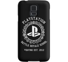 Playstation Battle Royale School (White) Samsung Galaxy Case/Skin