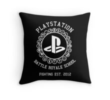 Playstation Battle Royale School (White) Throw Pillow