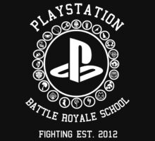 Playstation Battle Royale School (White) T-Shirt
