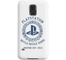 Playstation Battle Royale School (Blue) Samsung Galaxy Case/Skin