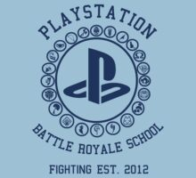 Playstation Battle Royale School (Blue) T-Shirt