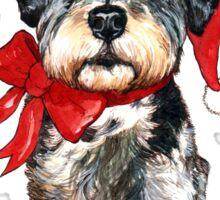 Fluffly Little Christmas Dog Sticker