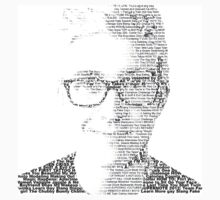 Tyler Oakley Words Black and White Version Kids Clothes