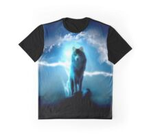 Lighting Wolf Graphic T-Shirt
