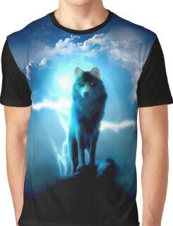 Lighting Wolf Graphic T-Shirt
