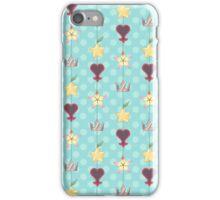 KH Destiny Trio Pattern - Blue iPhone Case/Skin