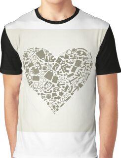 Heart office Graphic T-Shirt