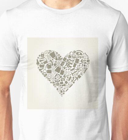 Heart office Unisex T-Shirt