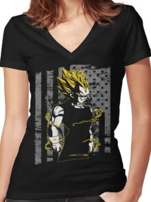 Vegeta (Only Last 12 Hours Left) Women's Fitted V-Neck T-Shirt